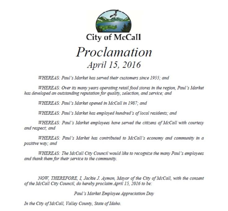 Pauls Proclamation