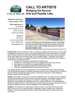Lardo Bridge Call to Artists 1