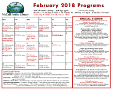 feb programs calendar